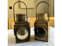 2x GWR Railway Lamps
