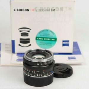 Zeiss 35mm f2.8 C Biogon T* ZM Leica M mount Lens Box & Papers