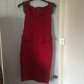 Red christmas party dress size 10