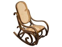 Wooden Rocking Chair - full size dark brown colour