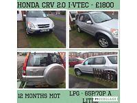 Honda CRV I-vtec 2.0 LPG