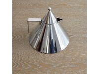ALESSI IL CONICO DESIGNER KETTLE by ALDO ROSSI for Hob Stovetop Silver 2L Stylish Classic Modern VGC