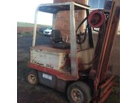 Electric forklift truck spares or repair