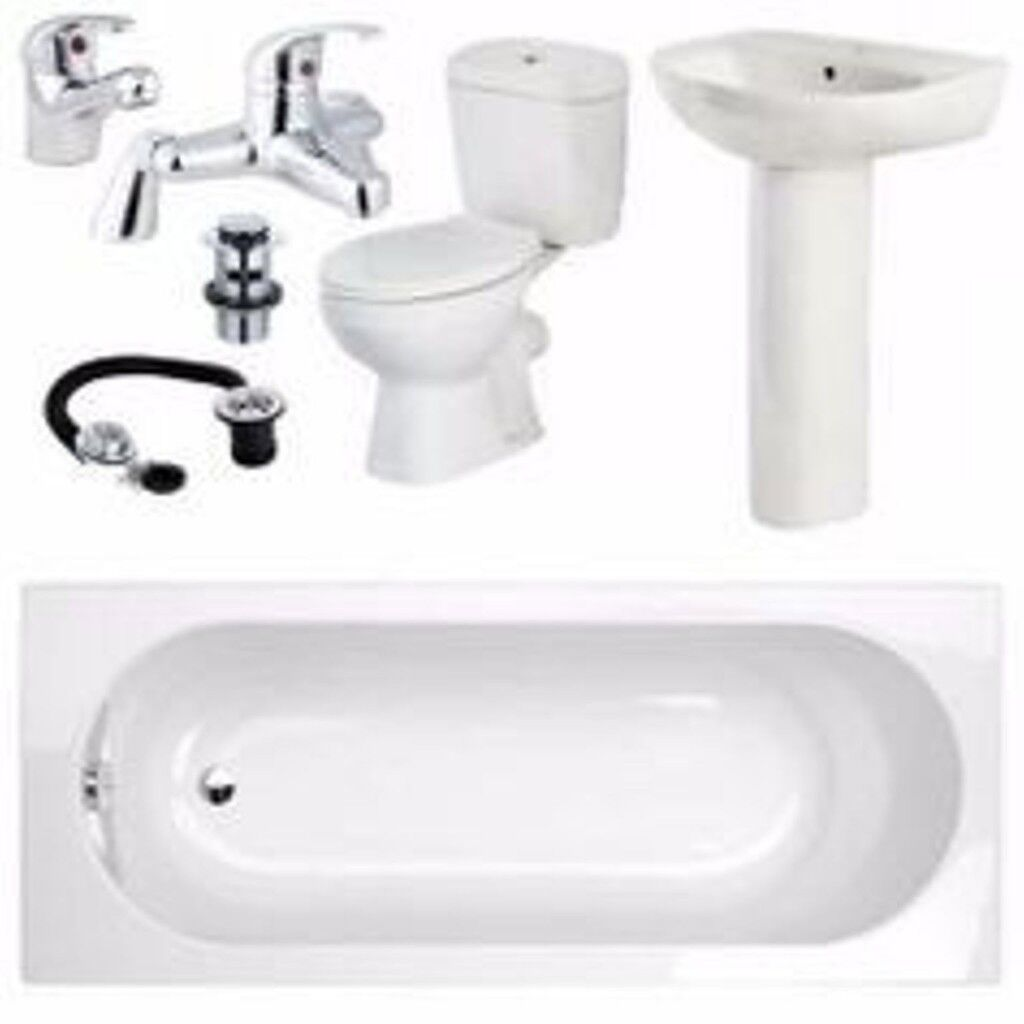 CHEAP BARGAIN PRICE - COMPLETE BATHROOM SUIT TAPS INCLUDED | in ...