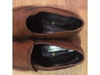 Patrick Cox Leather Loafers - Contemporary Brogue - Dark Tan - Size Uk 10.5