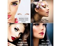 Eyelash extensions courses - Accredited Foundation and Russian Volume
