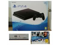 Brand New PS4, 500GB, in box, never used. Only £185
