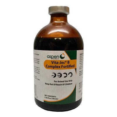 Vita-jec B Complex Fortified Vitamin B Cattle Swine Sheep 100 Ml