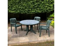 Outdoor Dining Table with 3 Chairs - FREE TO A GOOD HOME!!!