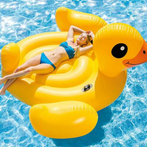 Intex Luchtbed Mega Yellow Duck Island 56286EU
