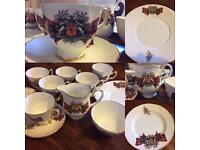 Royal Stewart bone china Royal Grafton set