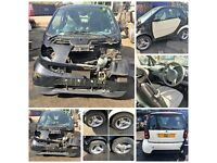 Smart Pure Softip Semi Auto Coupe 2002 599cc Black (Door) All Parts Available