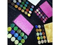 Glitter eyeshadow palettes customised