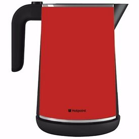 New Hotpoint WK30MAR0 1.7 Litre Cordless Kettle Red Was: £81.99