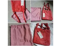 New red leather Radley leather messenger bag with dust bag for sale