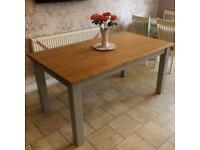 *New* Solid Oak & Grey Extending Dining Table