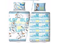 Frozen Olaf reversable single quilt covers BRAND NEW!