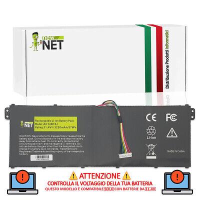 Batteria AC14B13J AC14B18J AC14B3K compatibile con Acer Pc [11.31V - 3220mAh]