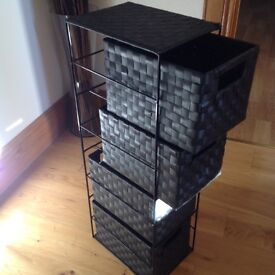 Black storage tower...