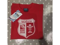 BRAND NEW Rugby World Cup Red Wales T Shirt , Age 10 years