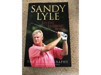 Book- Sandy Lyle- To the fairway born. Paperback vgc