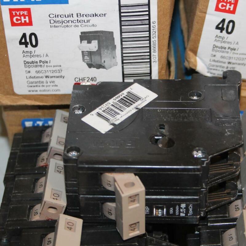 ONE New Cutler Hammer Eaton CHF240 2 Pole 40 Amp Breaker CH240 w/ Trip Indicator