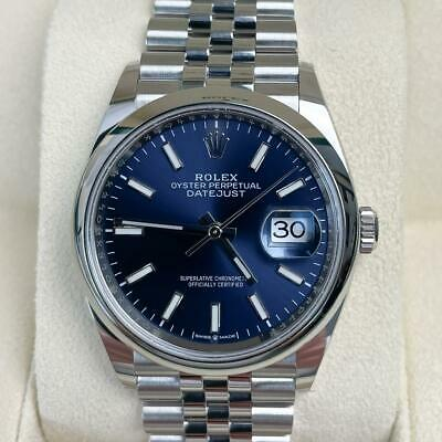 Rolex Datejust 36   126200   Blue dial   Unworn September 2021 full set