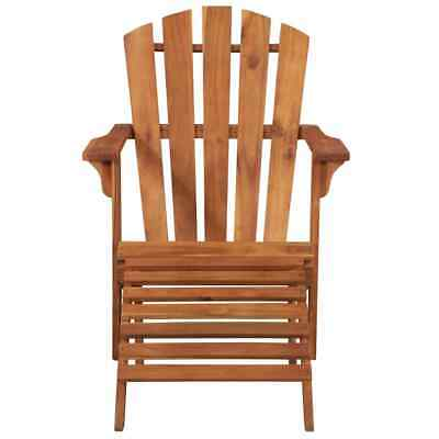 vidaXL Garden Adirondack Chair with Footrest Solid Acacia Wood