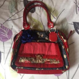 BNWT red bow print bag from Next