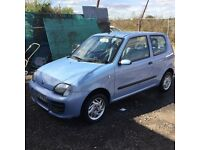 53 reg fiat seicento in vgc condition one owner from new 1 yrs mot lovely driver cheap to run tax