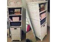 Laundry basket/ shelving unit