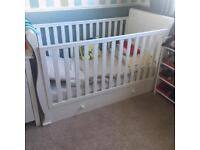 Sleigh cot to toddler bed