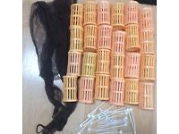 Rollers comb bag tidy hair dressers hairdresser equipment not scissors