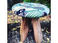 Unique stools children's nursery kids farm country fabric