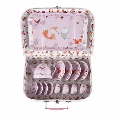 Sass & Belle Koffer Tee-Service 15 tlg Picknick Kinder Geschirr Küche Woodland
