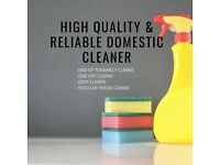 High Quality & Reliable End of Tennancy Cleaner| Regular & One off Cleaning Service