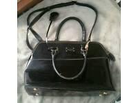 Paul's Boutique Black Patent Handbag