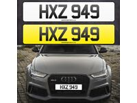 HXZ 949 - Short 3 digit NI Number Plate- Cherished Personal Private Registration plates