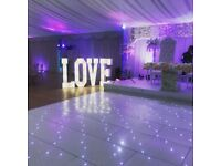 4ft LOVE & MR & MRS illuminated / marquee/ lights letters sign from £125 & Candy Cart £60