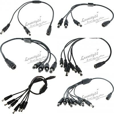 5.5X2.1mm Coaxial DC Power Connector Cable Extension Wire