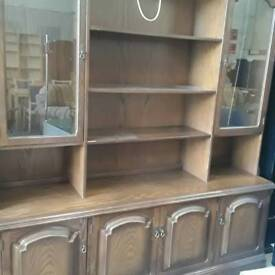 Large oak Welsh dresser/ wall unit