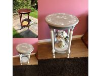 Restored Unique Shabby Chic Side Table
