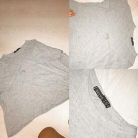 Grey top size 10 from boohoo