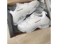 Balenciaga triple s white womens size UK7 EU40