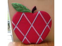 Apple Polka Dot Quilted Notice Photo Board