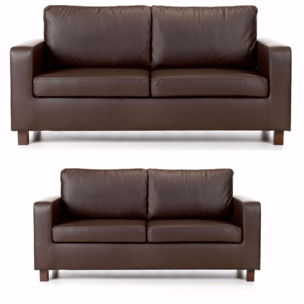 3 2 Seater Brand New Leather Sofas Free Delivery