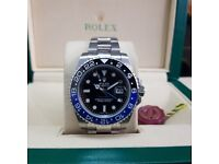 New Rolex Gmt Master with Blue-Black Bezel Comes Rolex Boxed with Paperwork