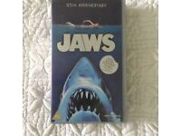 """25th Anniversary VHS tape of the 1976 film """"Jaws"""""""