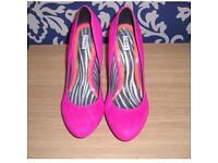 Hot pink next heels