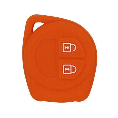 Perfeclan Smart Remote Key Case Silicone Cover for Suzuki Orange